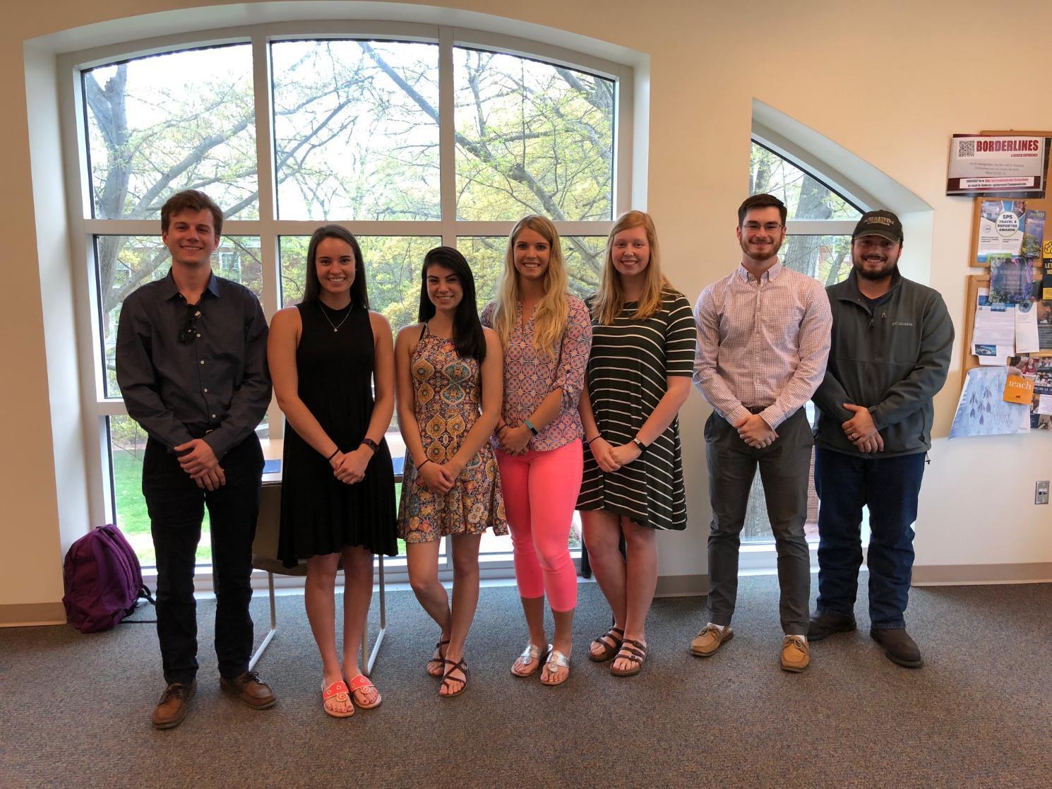 The 2018 student award winners from Biological and Environmental Sciences